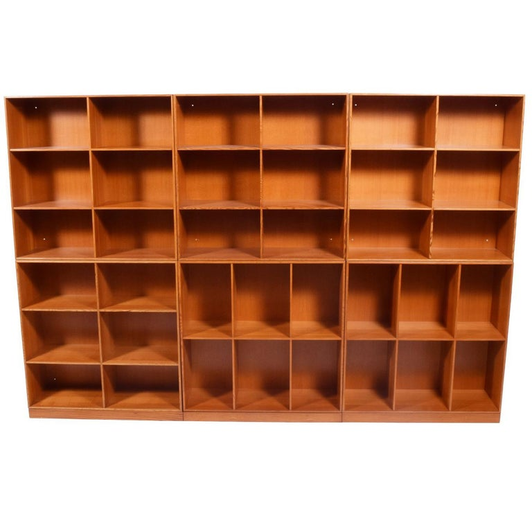 Mogens Koch Six Open Bookcases for Rud Rasmussen For Sale