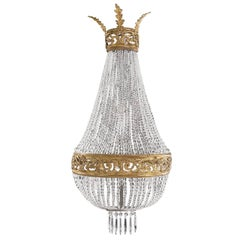Late 19th Century Crystal Chandelier Wall Light