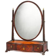18th Century Mahogany Dressing Mirror