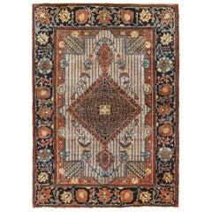 Small Size Antique Persian Farahan Rug