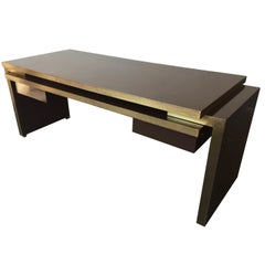 Unique and Important Philippe Jean Executive Desk, Signed
