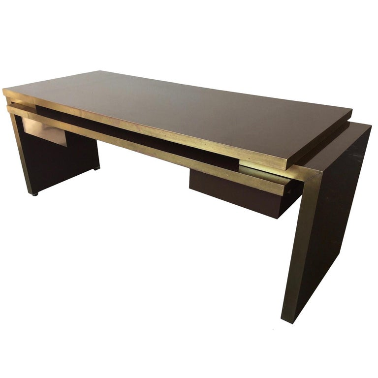Unique and Important Philippe Jean Executive Desk, Signed