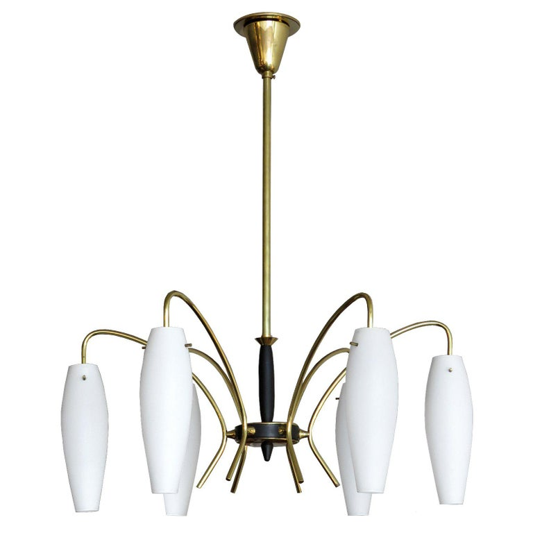 German Six-Light Chandelier, 1950 For Sale