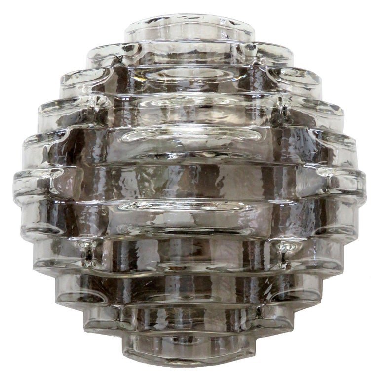 Art Glass Wall Light by Hillebrand For Sale