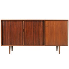 Milo Baughman Tambour-Door Credenza for Glenn of California