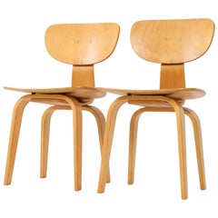 Pair of Mid-Century Modern SB02 Combex Series Chairs by Cees Braakman for Pastoe
