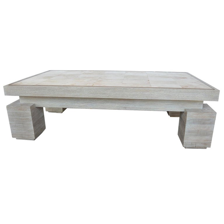 Large Coffee Table by Theodore Alexander For Sale