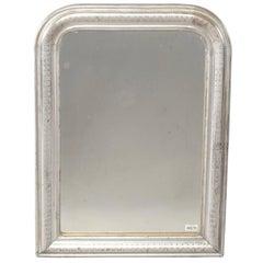 Small 19th Century Louis Philippe Silver Gilt Mirror