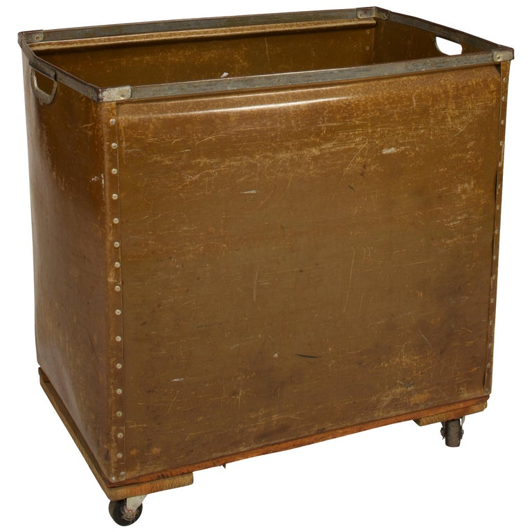 Large Vintage Mail Cart on Wheels For Sale