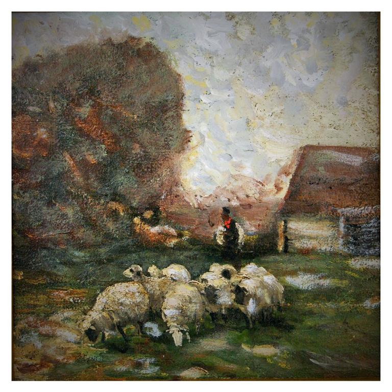19th Century Painting- French Pastoral Scene