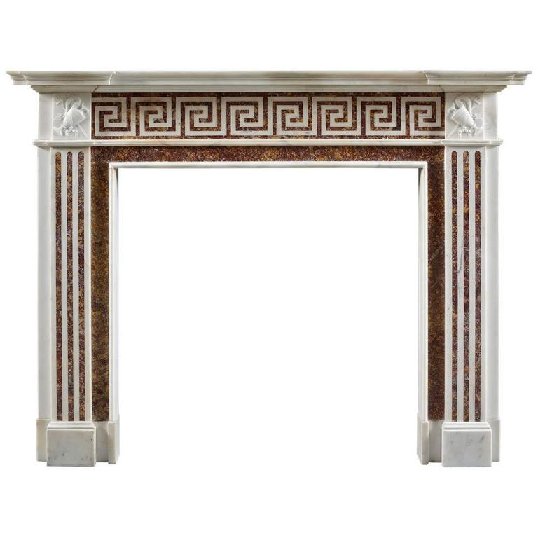 Antique 19th Century English Neoclassical Fireplace Mantel