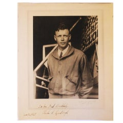Charles Lindbergh Signed Photograph