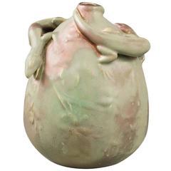 Bussière French Art Nouveau Ceramic Vase