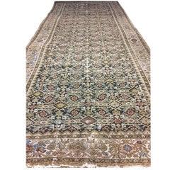 Antique Persian Malayer Corridor Carpet Rug