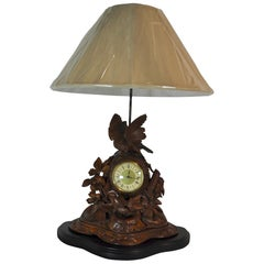 Mantle Clock Lamp, circa 1900