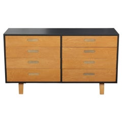 Modern Clifford Pascoe Two-Tone Birch Eight-Drawer Dresser with Recessed Pulls