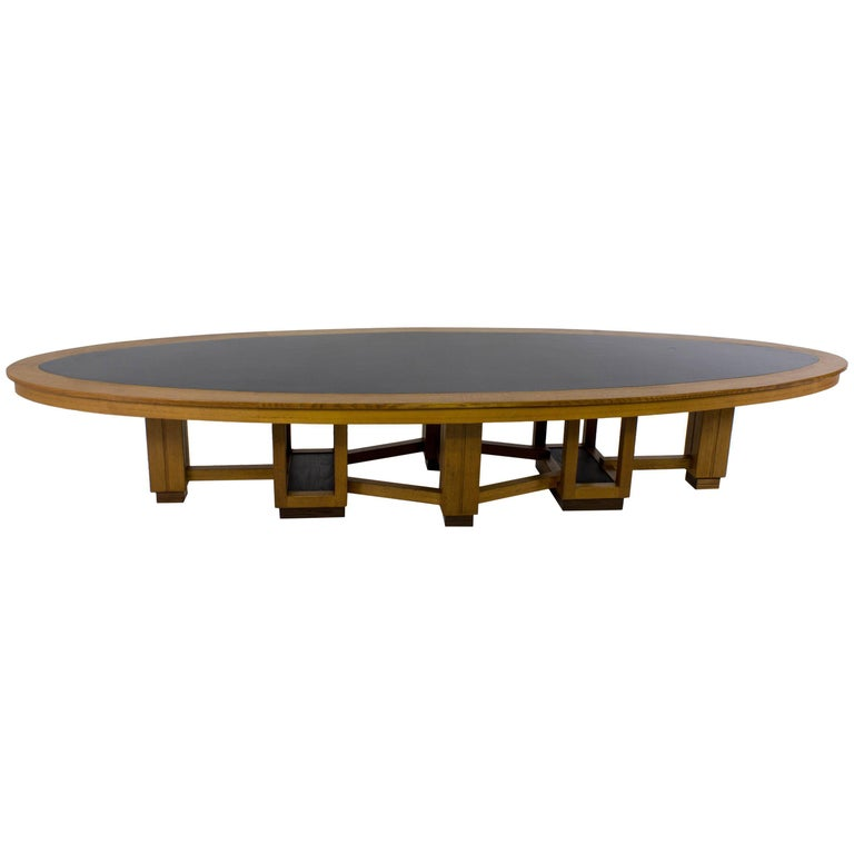 Art Deco Conference Table For Sale At Stdibs - Oval glass conference table