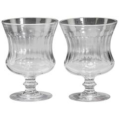 Pair of George III Period Glass Goblet Vases