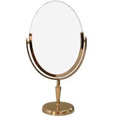 Brass Vanity Mirror by Charles Hollis Jones