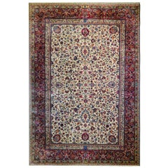 Incredible Monumental Early 20th Century Meshed Rug