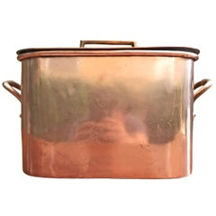 Late 19th Century French Copper Daubiere by J. Jacquotot