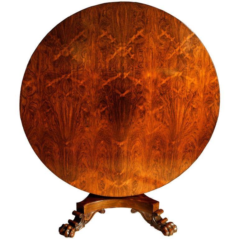 Large Early 19th Century Regency Rosewood Centre or Dining Table