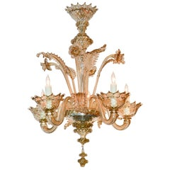 Early 20th Century Venetian Glass Chandelier