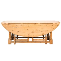 Pine Drop-Leaf Dining Table