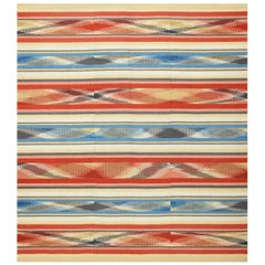Beautiful Square Vintage Swedish Kilim Rug