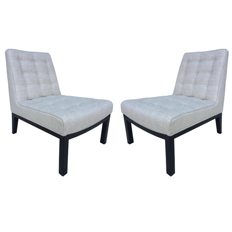 Pair of Dunbar Edward Wormley Slipper Chairs