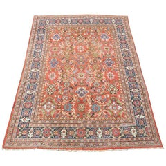 Antique Sultanabad Carpet All-Over Design with Light Colors