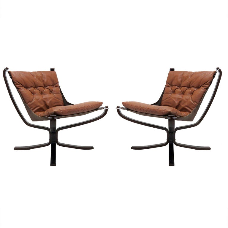 Leather Chairs 'Falcon' by Sigurd Resell