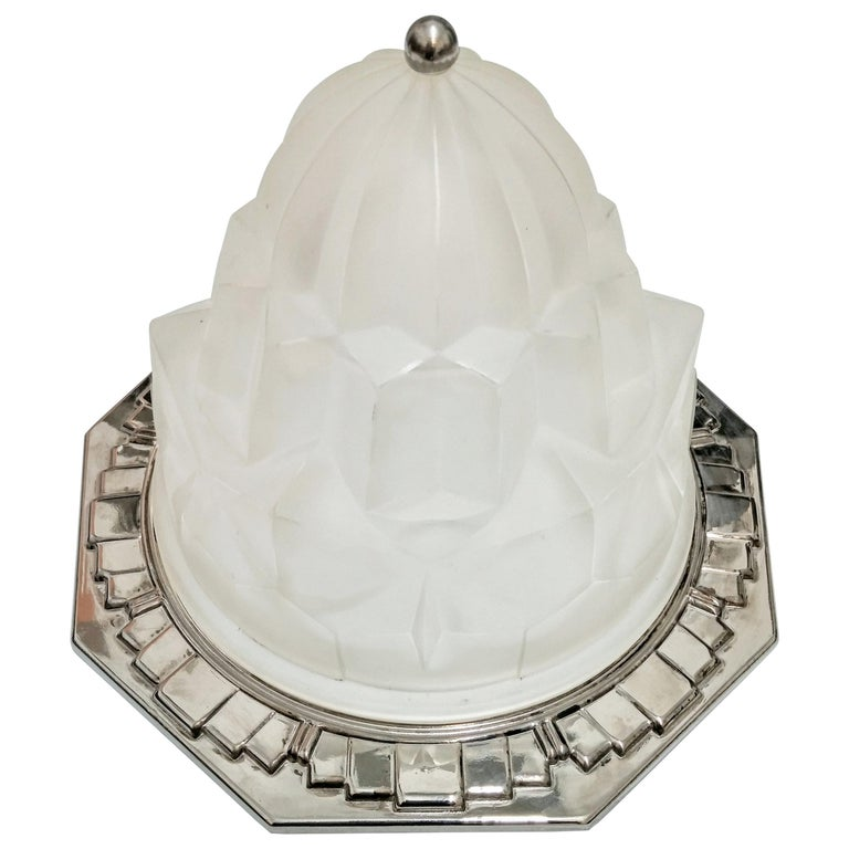 French Art Deco Flush Mount by Degue
