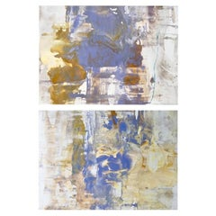 Diptych by Artist Ryan Fugate Abstract Polymer on Panel, 2018