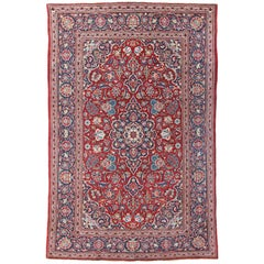 Antique Kashan Rug, Persia, Small Size