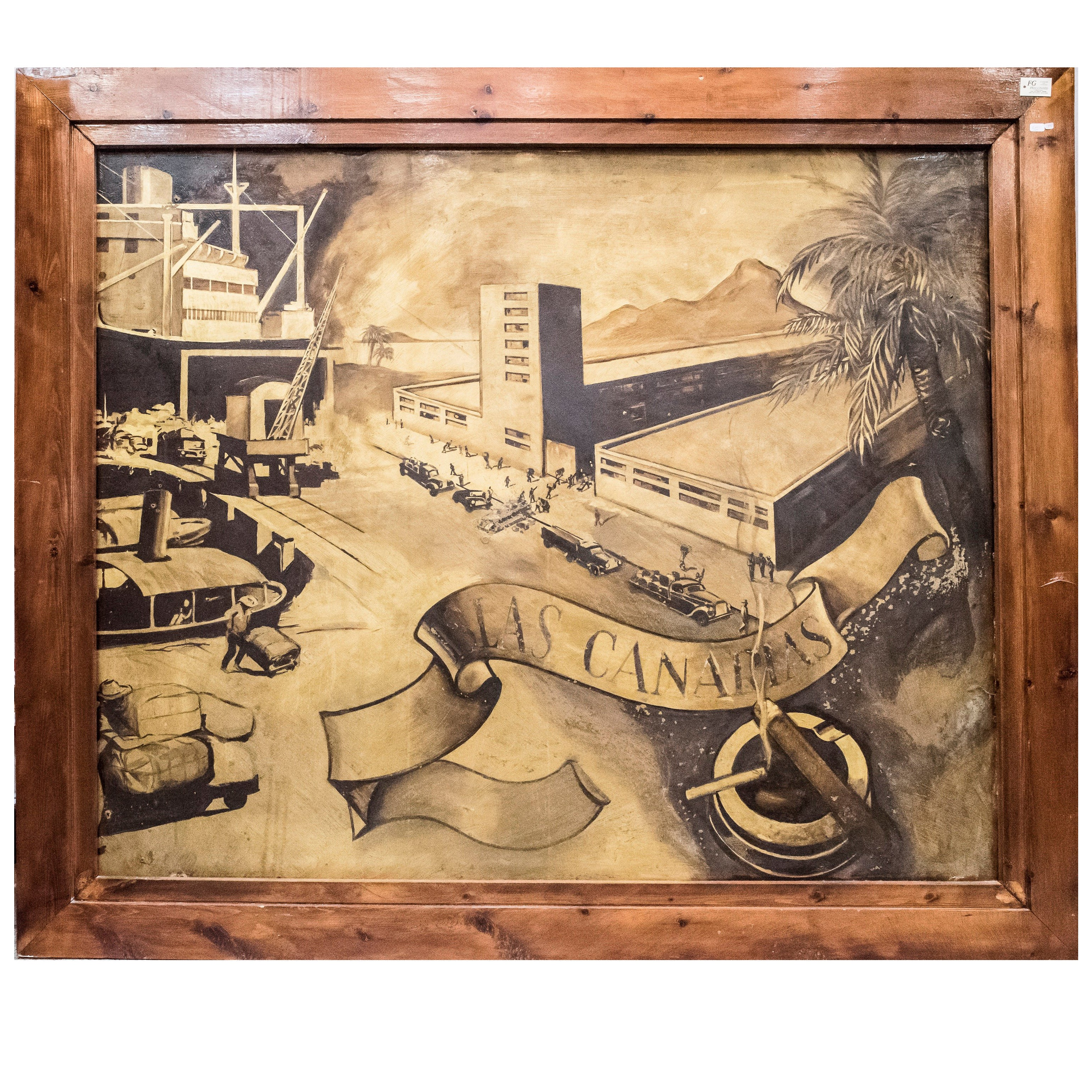 Art Deco Lacquered Panel at 1stdibs