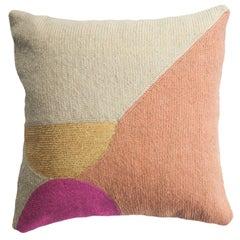 Nia Semi Circle Hand Embroidered Modern Geometric Throw Pillow Cover