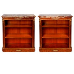 Pair Of 19th Century Louis Xvi Style Open Bookcases