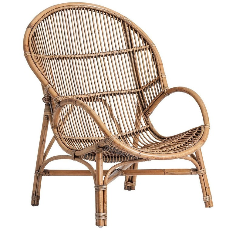 Rattan Midcentury Style Armchair