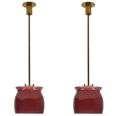 Pair of Model 4023 Pendants by Franco Albini for Venini