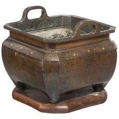 19th Century Oriental Bronze Jardiniere