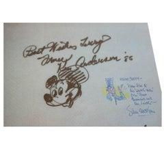 Disney Animators and Voice Actors Autographs and Sketches