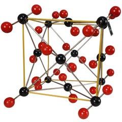 "Mid-Century Molecular Structure of ""Chlorid Uhlicity"" Prague, 1950s"