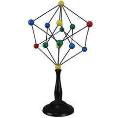 Mid-Century Scientific Crystal Molecular Model Czechoslovakia from the 1960s