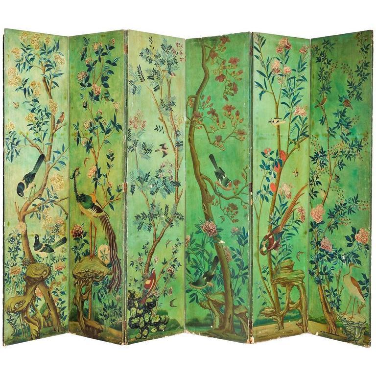 Mid-19th Century Six Fold Screen