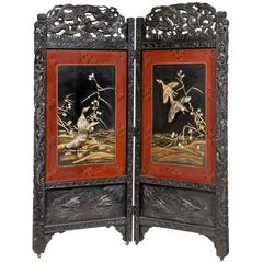 19th Century Two-Fold Oriental Screen