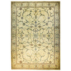 Unbelievable Early 20th Century Antique Kashan Rug