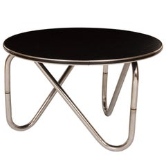 Black Ash and Chrome Coffee Table