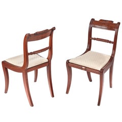 Fine Pair of Regency Mahogany Side Chairs