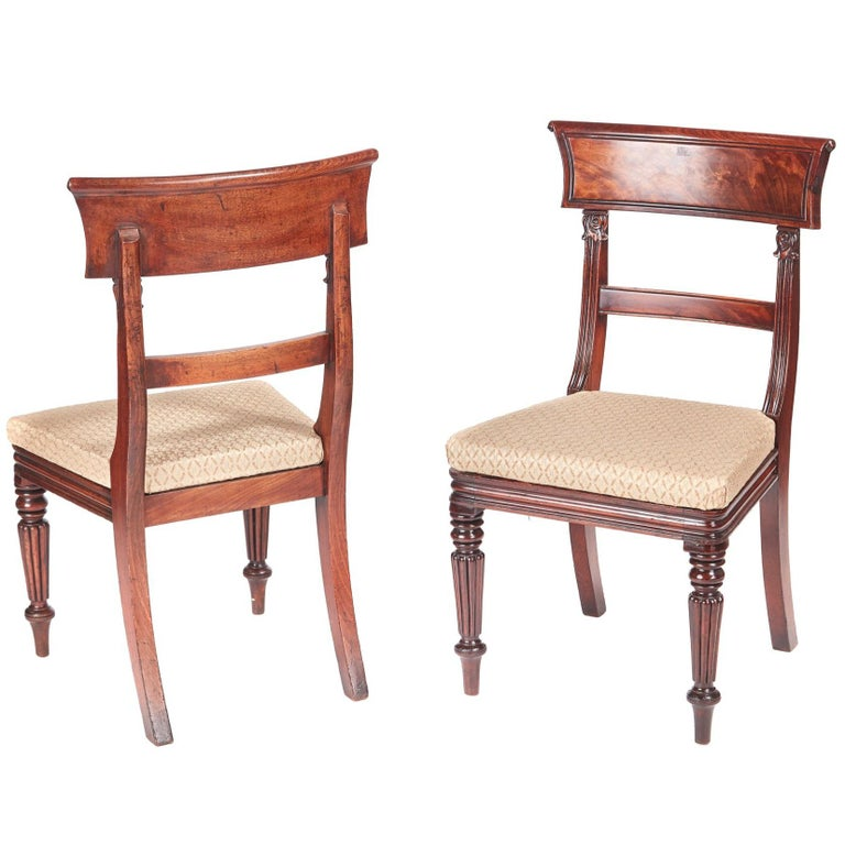 Quality Pair of William IV Mahogany Side / Desk Chairs